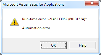 Excel Automation error