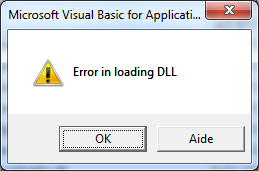 VBA Error in loading DLL