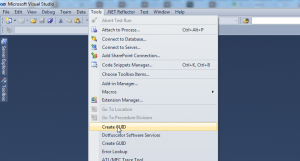Visual Studio Create GUID