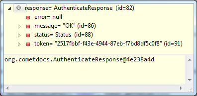 Deserialized AuthenticateResponse