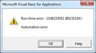 Excel Automation error