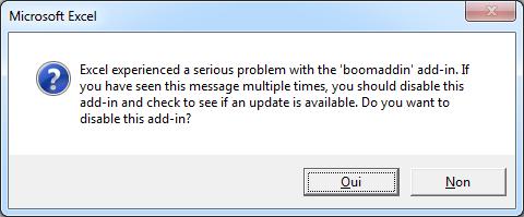 Excel addin serious problem